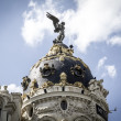 Metropolis building, Image of the city of Madrid — Stock Photo #38085705