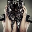 Min helmet made from forks — ストック写真 #38086087
