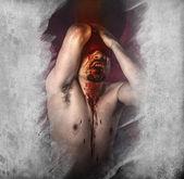 Vampier man — Stockfoto