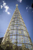 Christmas tree in Madrid — Stock Photo