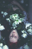 Young drown woman in a poetic representation. fantasy art — Stock Photo