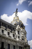 Metropolis building, Image of the city of Madrid — Stock Photo