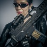 Sexy military woman posing — Stock Photo #38395537