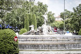 Neptuno fountain in Madrid, Spain — Stok fotoğraf