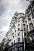 Gran via, madrid, španělsko — Stock fotografie