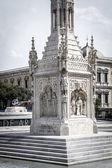 Cristobal colon in Madrid, Spain — Stock Photo