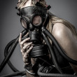 Female model in gas mask — Stock Photo #39647347