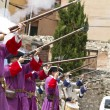 Stock Photo: Succession War September 4, 2010 in Brihuega, Spain
