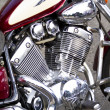 Closeup of big chromium motorcycle engine — Stock Photo #39719487
