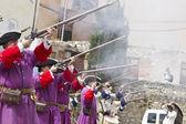 Succession War September 4, 2010 in Brihuega, Spain — Stock Photo