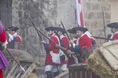 Assault city of Brihuega — Stock Photo