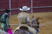 Bullfight in Camarma of Esteruelas. — Stock Photo