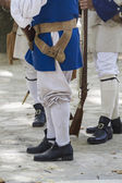 Royal Guardsman during the re-enactment of the War of Succession — Stock Photo