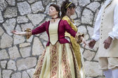 Spanish classical and popular dance — Stock Photo