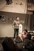 Presentation at FITUR 2014 The first international festival of Iberian wolf — Stock Photo