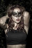 Mujer con máscara — Foto de Stock