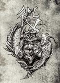 искусство татуировки — Стоковое фото