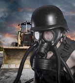 Post apocalyptic survivor — Stock Photo