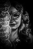 Woman with mask — Stockfoto