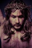 Jesus Christ on the cross — Stock Photo