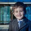 Child dressed businessman suit — Stock Photo
