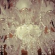 Stock Photo: Crystal chandelier.