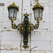 Golden lamps.Palace of Aranjuez, Madrid, Spain.World Heritage Si — Stock Photo