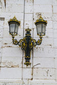 Golden lamps.Palace of Aranjuez, Madrid, Spain.World Heritage Si — Stock Photo