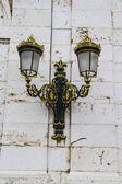Golden lamps.Palace of Aranjuez, Madrid, Spain.World Heritage Si — ストック写真