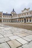 Main facade. Palace of Aranjuez — Stock Photo