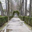 Beautiful gardens Palace of Aranjuez — Stock Photo #41286573