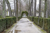 Beautiful gardens Palace of Aranjuez — Stock Photo