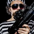 Mholding machine gun — Stock Photo #41571681