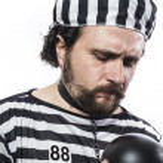 Man in prison — Stock Photo #41571863