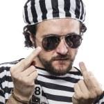 Man prisoner in prison garb — Stock Photo #41633163