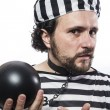 Stock Photo: Mprisoner in prison garb