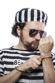 Man prisoner in prison garb — ストック写真