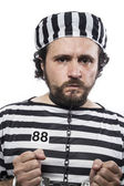 Man prisoner in prison garb — Photo