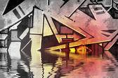 Graffiti velho muro sujo — Fotografia Stock