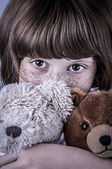 Girl with freckles — Stock Photo