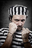 Portrait of a man prisoner — Stock Photo