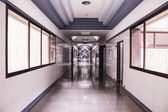 White hospital corridor — Stock Photo