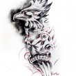 Totem, sketch of tattoo — Stock Photo