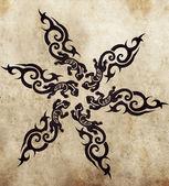 Esboço da arte da tatuagem — Fotografia Stock