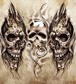 Skica o tetování — Stock fotografie