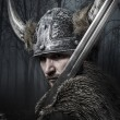 Viking warrior with helmet — Stock Photo #43220365