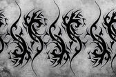 Tattoo design over grey background. — Stock Photo