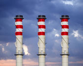 Industrial chimneys — Stock Photo