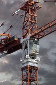 Industrial red crane — Foto Stock