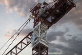 Industrial red crane — Stock Photo